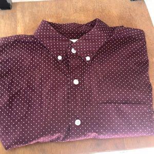 AEO  medium l/s button down shirt
